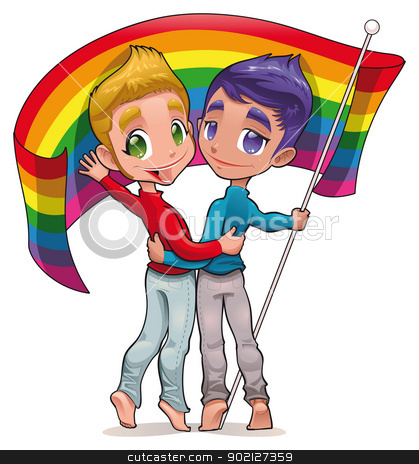 Born this way. stock vector clipart, Born this way. Funny cartoon and vector image for gay pride. Isolated objects. by ddraw