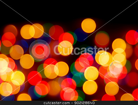 christmas background  stock photo, Abstract christmas lights as background on black by Vitaliy Pakhnyushchyy