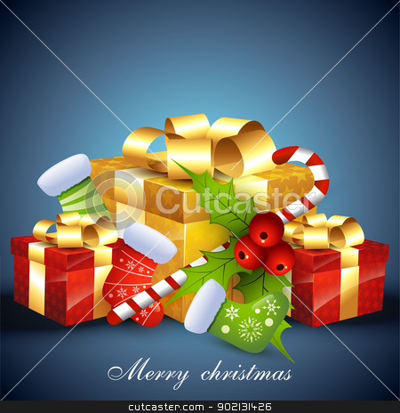 christmas background stock vector clipart, vector christmas background by pinnacleanimates