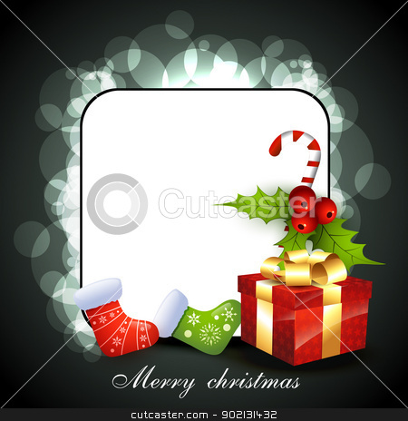 christmas card stock vector clipart, vector christmas card by pinnacleanimates