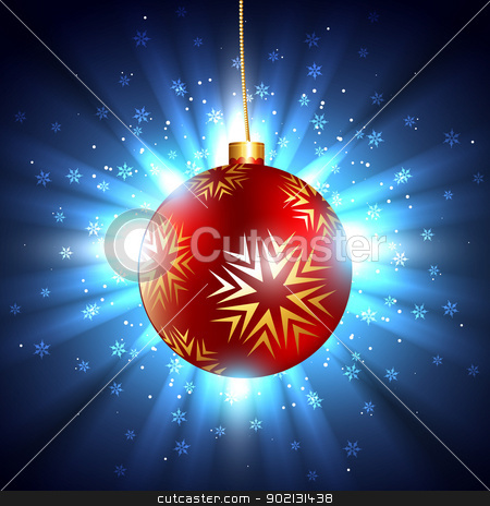 shiny merry christmas background stock vector clipart, vector shiny merry christmas background by pinnacleanimates
