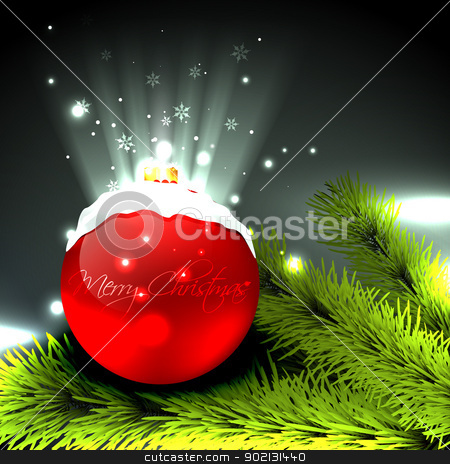 vector christmas design stock vector clipart, creative merry christmas vector design by pinnacleanimates