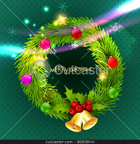 christmas vector background stock vector clipart, beautiful christmas design vector background by pinnacleanimates