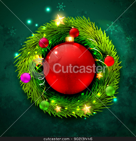vector christmas design stock vector clipart, beautiful vector christmas design background by pinnacleanimates