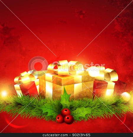 seasonal gift vector stock vector clipart, vector seasonal gift design background by pinnacleanimates