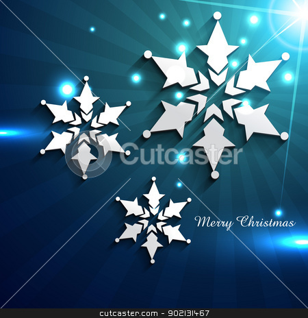 shiny christmas snowflake stock vector clipart, beautiful shiny illustration of snowflake by pinnacleanimates