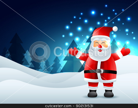 laughing santa claus stock vector clipart, vector laughing santa claus design illustration by pinnacleanimates