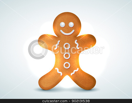 cookie design stock vector clipart, vector christmas cookie design illustration by pinnacleanimates