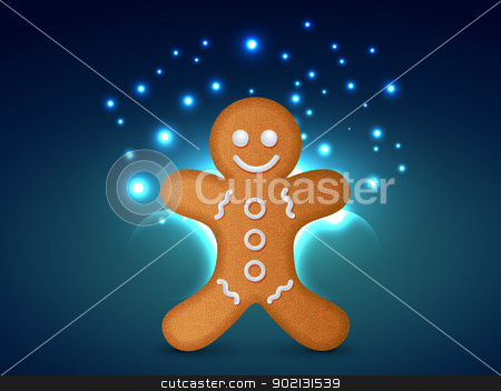 vector christmas cookie stock vector clipart, vector christmas coookie design background by pinnacleanimates