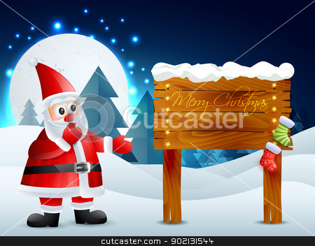 cartoon santa claus stock vector clipart, cartoon santa claus christmas background by pinnacleanimates