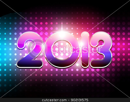 shiny happy new year stock vector clipart, vector shiny music style happy new year design by pinnacleanimates
