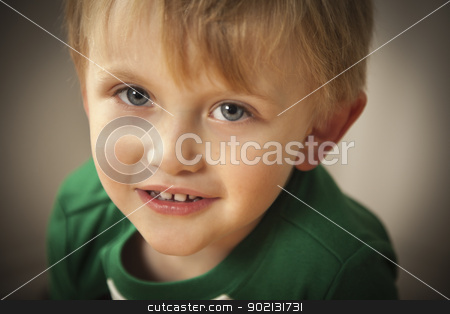 Portrait of Cute Blue Eyed Boy stock photo, Portrait of a Cute Blue Eyed Boy. by Andy Dean