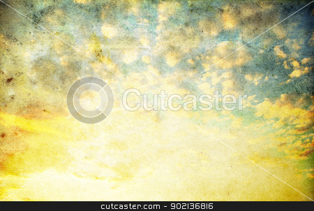 clouds stock photo, retro image of cloudy sky by Vitaliy Pakhnyushchyy
