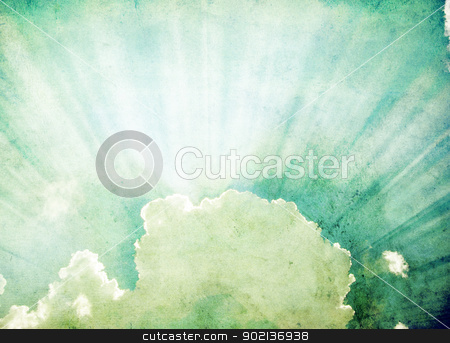 clouds stock photo, grunge background of a sky with clouds by Vitaliy Pakhnyushchyy