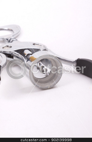 wine opener on white background stock photo, wine opener on white background by bubu45