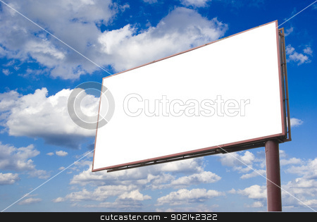 billboard stock photo, advertising billboard on sky background by Vitaliy Pakhnyushchyy
