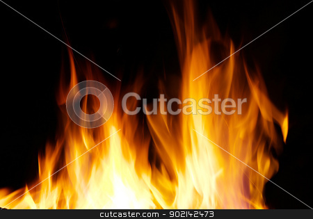 flame stock photo, A nice fire in a fire place   by Vitaliy Pakhnyushchyy