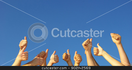 hands stock photo, Group of people hands in the air by Vitaliy Pakhnyushchyy