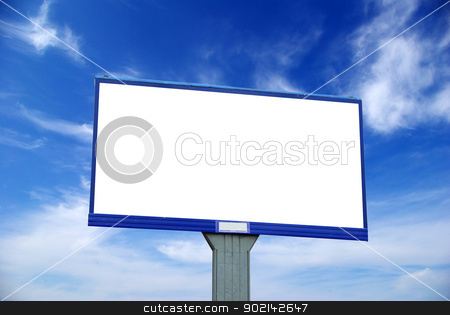 advertising billboard stock photo, advertising billboard on sky background by Vitaliy Pakhnyushchyy