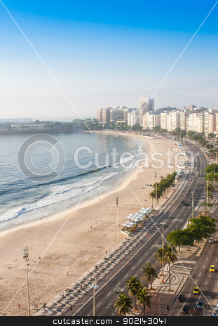 Copacabana Beach stock photo, Brazil, Rio de Janeiro. The famous beach of Copacabana by Perseomedusa