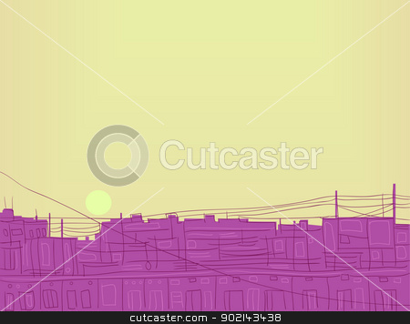Illustration - dawn. stock vector clipart, image of a rising sun. Vector illustration. by Natalia Konstantinova