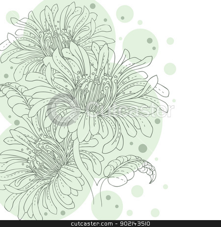 Floral backgrond stock vector clipart, Vector illustration of Floral backgrond by SonneOn