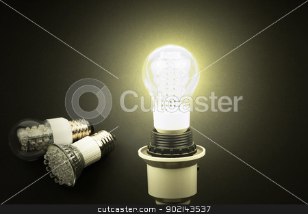 LED lamps stock photo, Energy-saving, efficient LED lamps by Preartiq