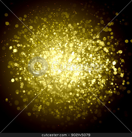 Yellow abstract light background stock photo, Yellow colour bokeh abstract light background. Illustration by Sergey Nivens