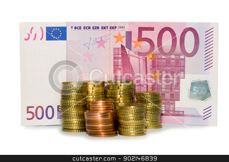 Money stock photo, Money banknote and monetary euro isolated in white   by Vladyslav Danilin