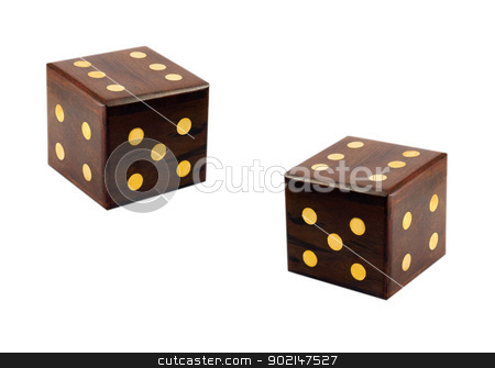 wooden dice stock photo, wooden dice isolated on white background by Vladyslav Danilin