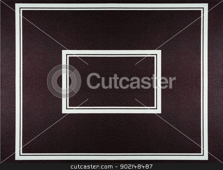 leather frame  stock photo, Dark red brоwn  leather texture with  frame  by Ivaylo Sarayski