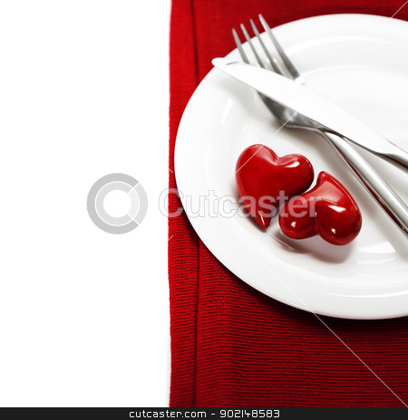 hearts on a plate stock photo, hearts on a plate. Valentine's day by klenova