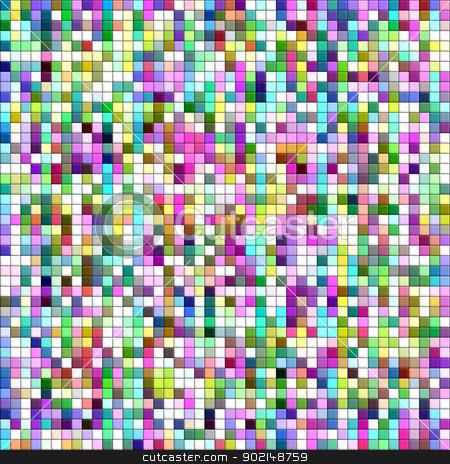 Pastel colors mosaic square tiles illustration background. stock photo, Pastel colors mosaic square tiles illustration background. by Stephen Rees