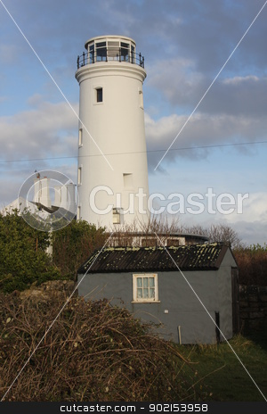 Light House stock photo, Secondary Lighthouse  on Portland in Dorset by Ollie Taylor