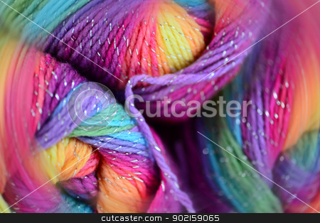 Yarn with a blur effect stock photo, Yarn with a blur effect. Bright colors and soft blur. by lermannika
