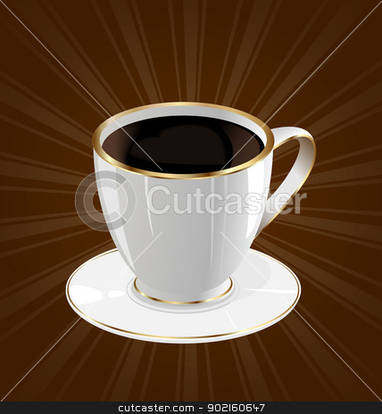 Vintage background with coffee cup stock vector clipart, Illustration vintage background with coffee cup - vector by -=Mad Dog=-