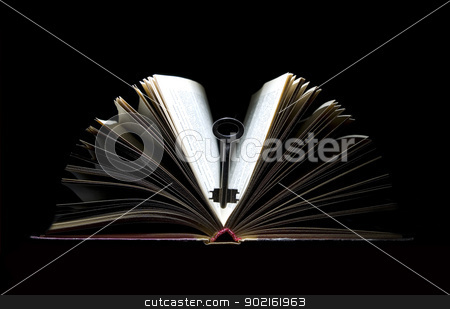 Key and book stock photo, Key to knowledge it is books by Vitaliy Pakhnyushchyy