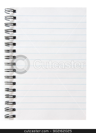 blank notepad stock photo, blank spiral notepad isolated on white by Vitaliy Pakhnyushchyy