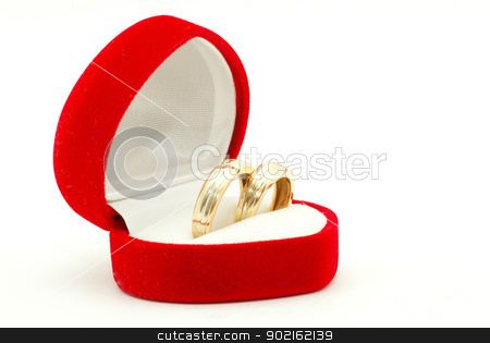 wedding ring  stock photo, wedding ring on white background by Vitaliy Pakhnyushchyy