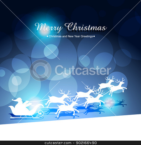 santa claus riding sleigh stock vector clipart, santa claus riding sleigh vector illustration by pinnacleanimates