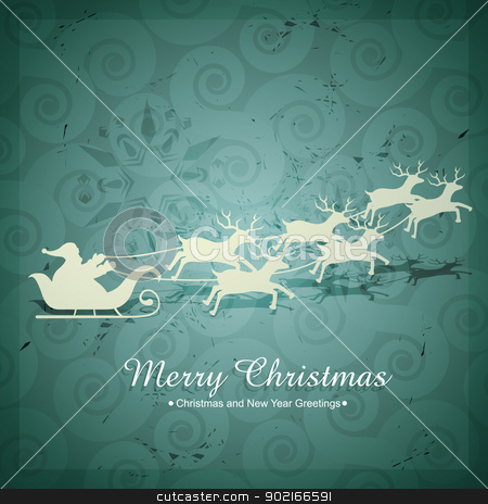 santa claus flying stock vector clipart, vector christmas santa claus flying by pinnacleanimates