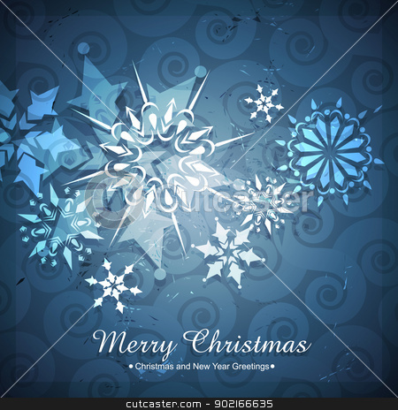 seasonal winter background stock vector clipart, beautiful winter christmas seasonal background by pinnacleanimates
