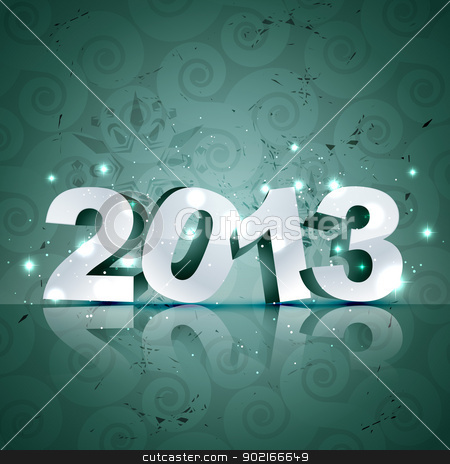 vector happy new year design stock vector clipart, stylish vector happy new year design by pinnacleanimates