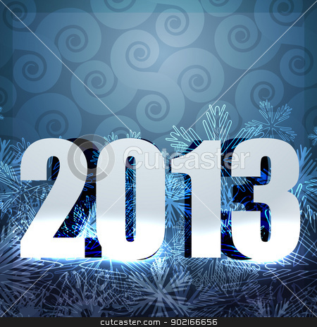 2013 new year design stock vector clipart, stylish 2013 happy new year vector design by pinnacleanimates