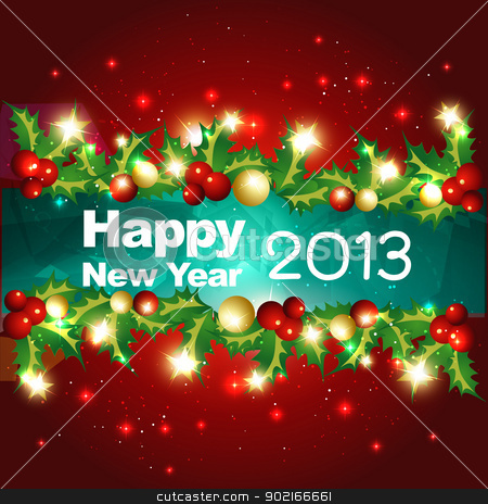 vector happy new year design stock vector clipart, happy new year vector design illustration by pinnacleanimates