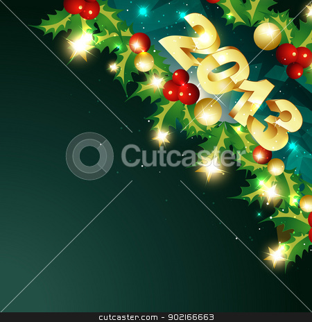 golden happy new year design stock vector clipart, vector happy new year in golden design illustration by pinnacleanimates