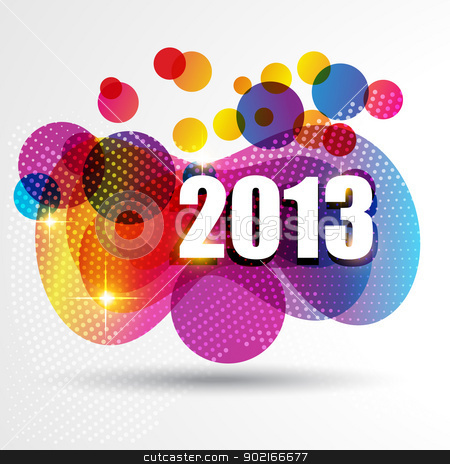 new year design stock vector clipart, vector happy new year design illustration by pinnacleanimates