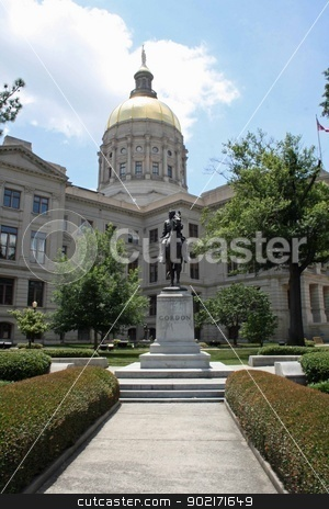 Georgia State Capitol Building stock photo, Exterior of the Georgia state capitol building by Wanda Anthony
