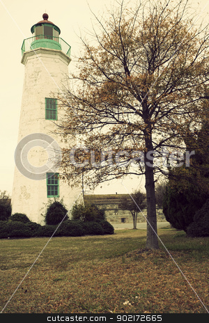 Old Point Comfort Lighthouse stock photo, Old Point Comfort Lighthouse in Virginia by Henryk Sadura