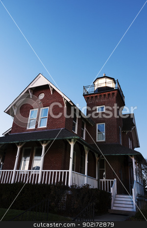 Sea Girt Lighthouse Lighthouse   stock photo, Sea Girt Lighthouse in New Jersey by Henryk Sadura